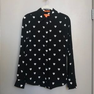 NWOT Joe Fresh silk hearts blouse